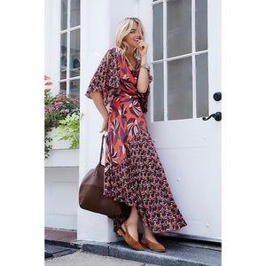 Free People Paloma Floral Leaf Maxi Dress XS